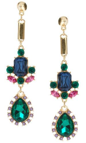 We love these Asos gem-encrusted earrings!