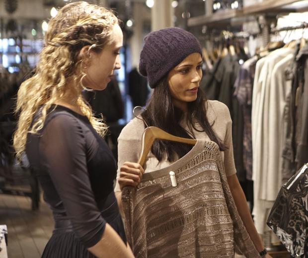 Freida Pinto goes on an All Saints shopping spree