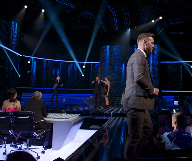 Gary Barlow stormed off The X Factor last night when Carolynne Poole was voted off
