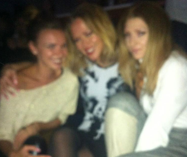 Nadine Coyle, Kimberley Walsh and Nicola Roberts all turned out to support Cheryl Cole