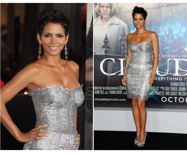Halle Berry Looks Smokin' In Silver
