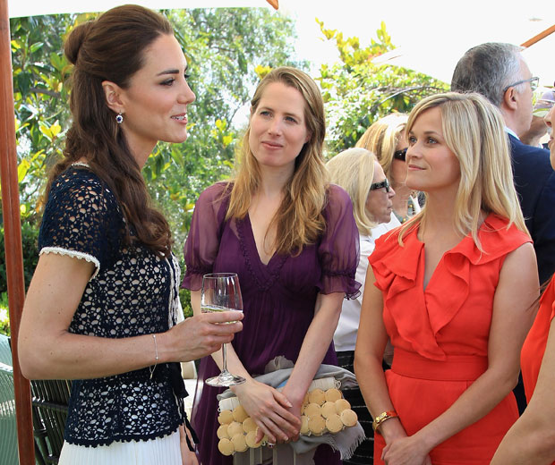 Kate Middleton and Reese Witherspoon first met in California in July 2011