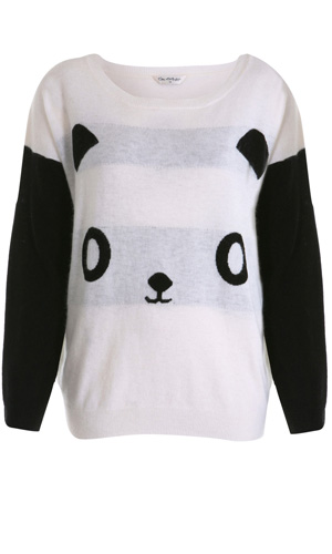 How cute is this Panda jumper from high street fave Miss Selfridge?
