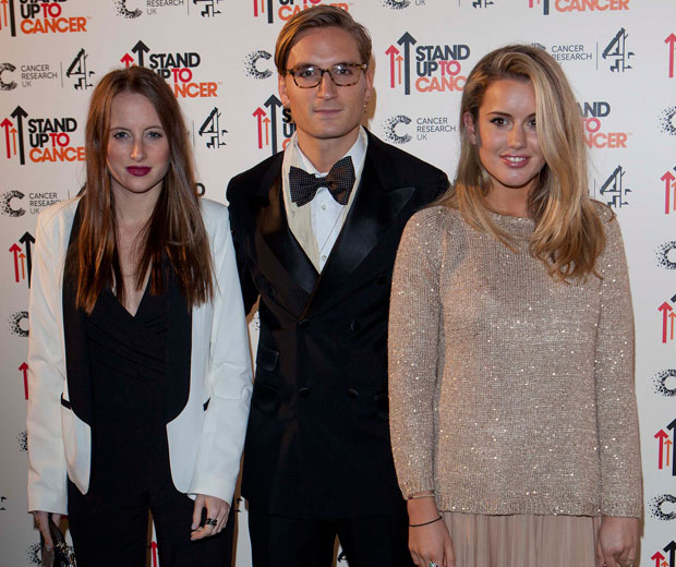 Made In Cheslea's Rosie Fortescue, Oliver Proudlock and Caggie Dunlop attended the Stand Up To Cancer ball together