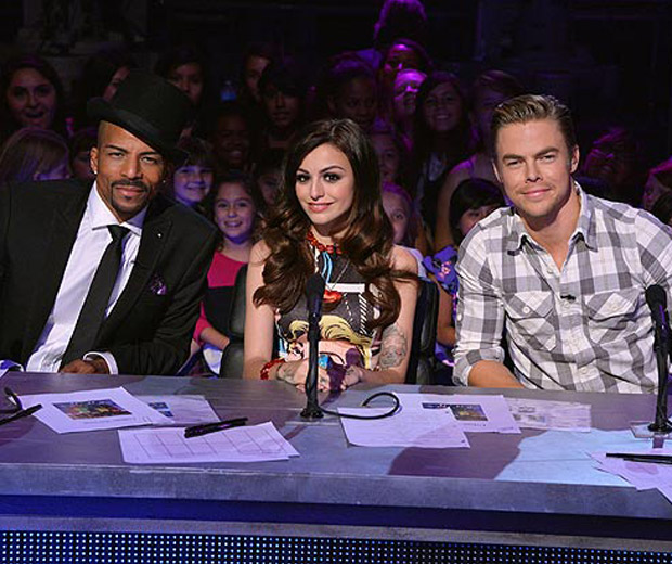 Cher Lloyd and Derek Hough on the Make Your Mark judging panel!