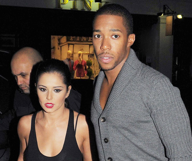 Cheryl Cole and Tre Holloway, before his accident!