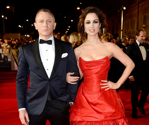 Daniel Craig and Berenice Marlohe at the Skyfall James Bond Premiere, 2012