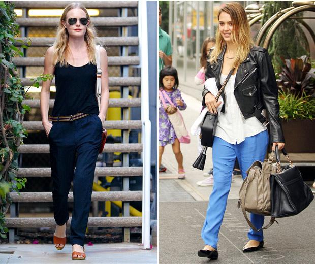 Kate Bosworth & Jessica Alba's Weekend Wardrobes