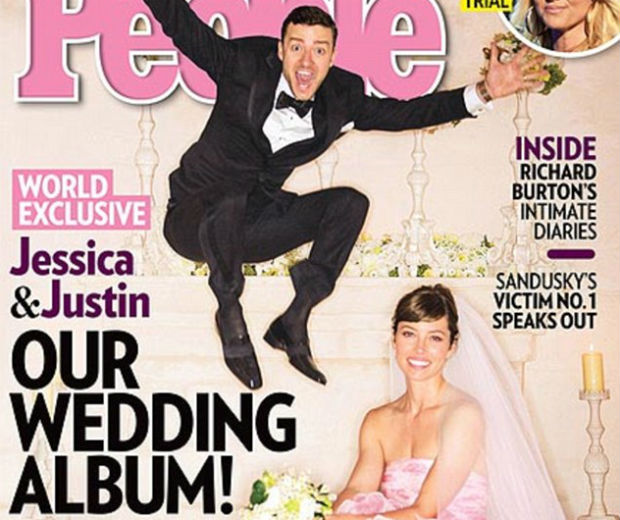 Justin Timberlake and Jessica Biel looked super-happy on their wedding day!