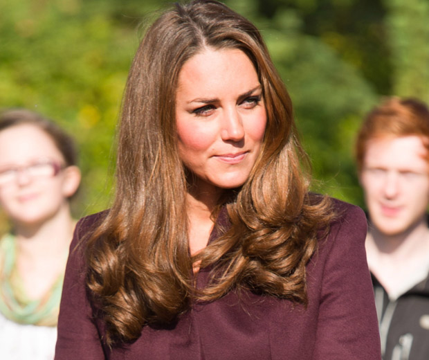 Kate Middleton shows off her poll-winning hair