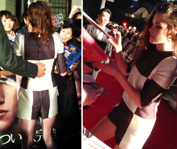 Kristen Stewart looked AMAZING in her Louis Vuitton playsuit as she signed autographs!