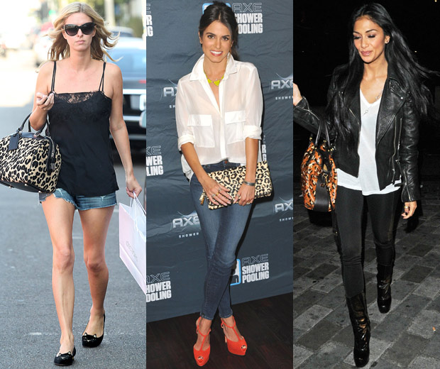 Celebrity Fashion: Nikki Reeed, Nicky Hilton And Nicole With Leopard Print Bags,