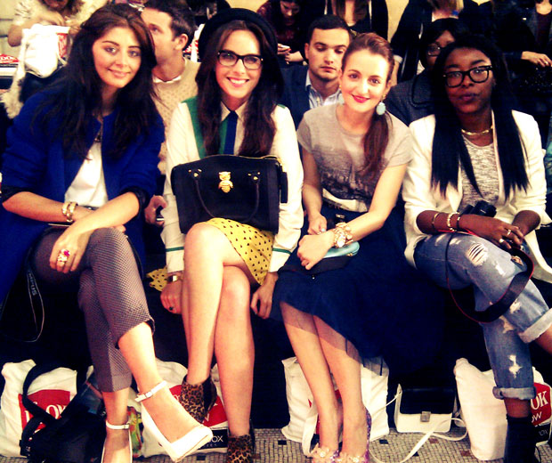Some of our LOOK Show Style Search winners sit on the high street fashion FROW