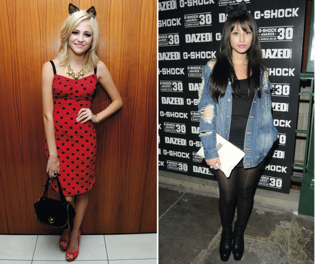 Pixie Lott and Leah Weller look super-cute with cat ears on their heads