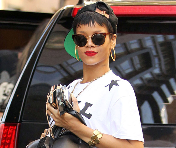 Rihanna was out in NYC today