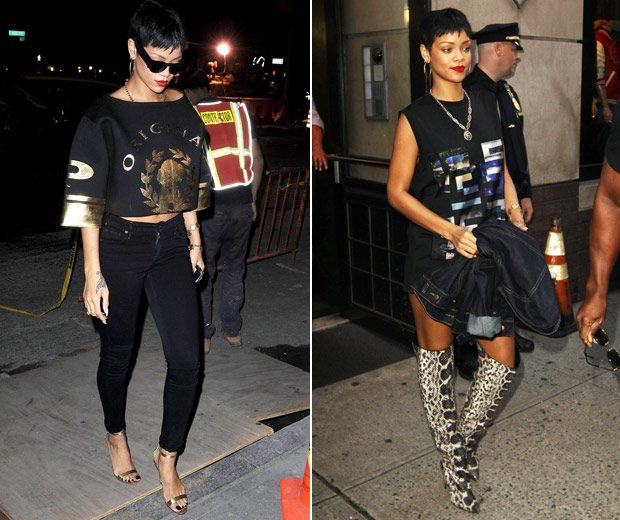 Rihanna Works A Fashion Fabulous Outfit In New York, October 2012