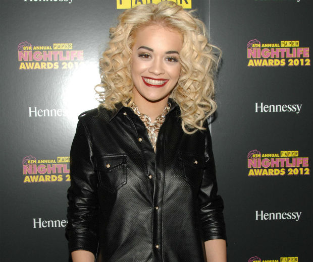Rita Ora looked happy at the Paper party!