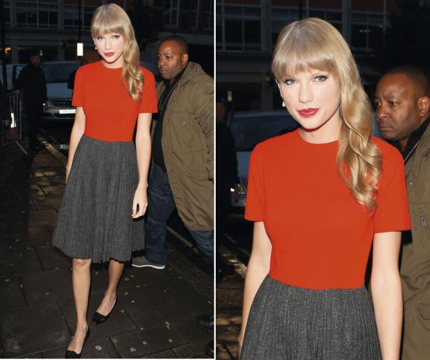 Taylor Swift at BBC Radio One Studios