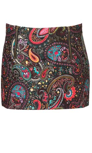 Topshop's party paisley mini hits the website today!