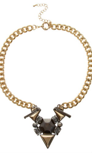 Update a plain T-shirt with this Asos jewelled necklace