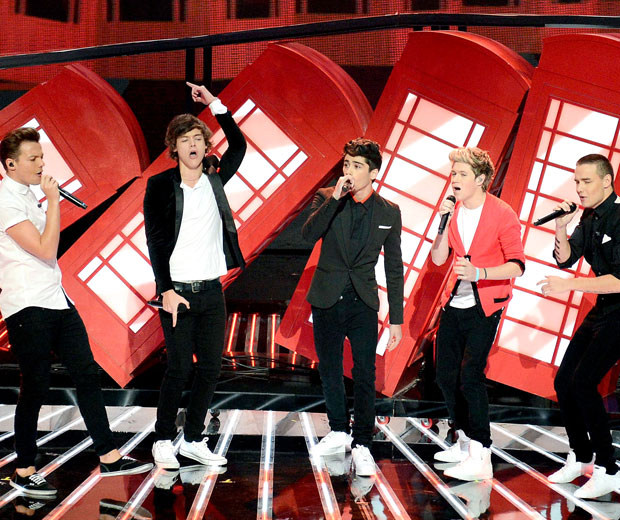 The One Direction boys are celebrating their record-breaking success today