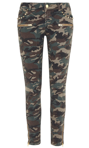 camouflage jeans from high street fashion shop primark, 2012