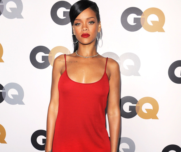 Rihanna In A Red Dress At The GQ Men Of The Year Awards, 2012