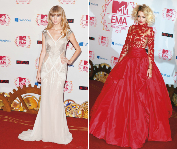 Rita Ora and Taylor Swift wow at this years EMA's