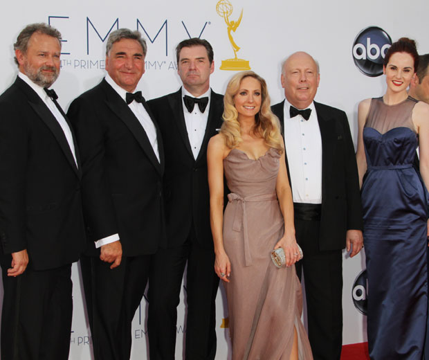 The cast of Downton took to the red capet in LA last night for the 2012 Emmy Awards