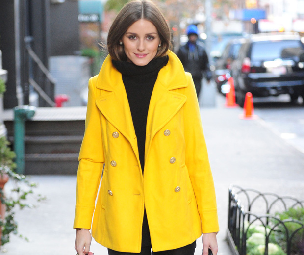 Olivia Palermo In A Yellow Coat Rocking Fab Casual Style, 2012
