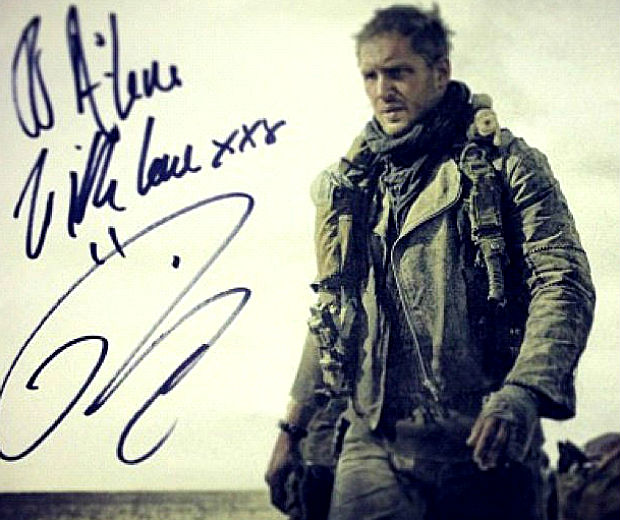 This is our first glimpse at Tom Hardy in Mad Max: Fury Road!