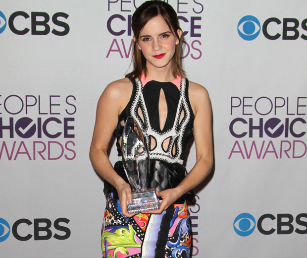 Emma Watson rocked in Peter Pilotto at the People's Choice Awards 2013