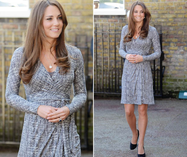 Kate Middleton shows off her bump at Hope House!