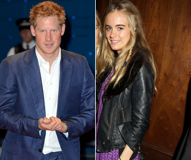 Prince Harry has been snapped hugging model Cressida on a ski slope