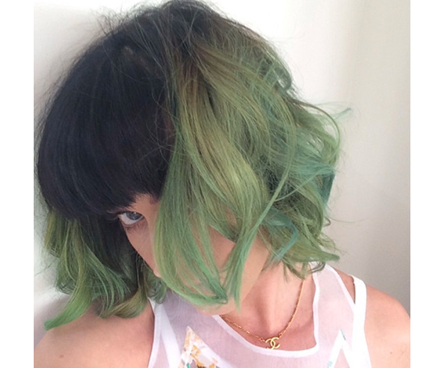 Katy unveiled her grungy new 'do on Instagram