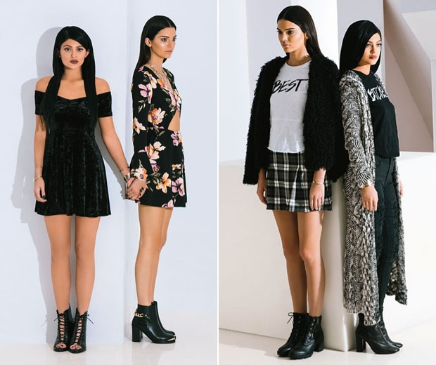 Kylie & Kendall Jenner Wear New Winter Clothing Line For Pacsun