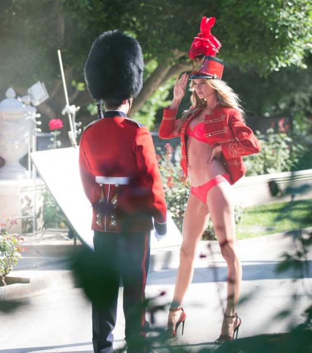 Behati Prinsloo also appears in the video