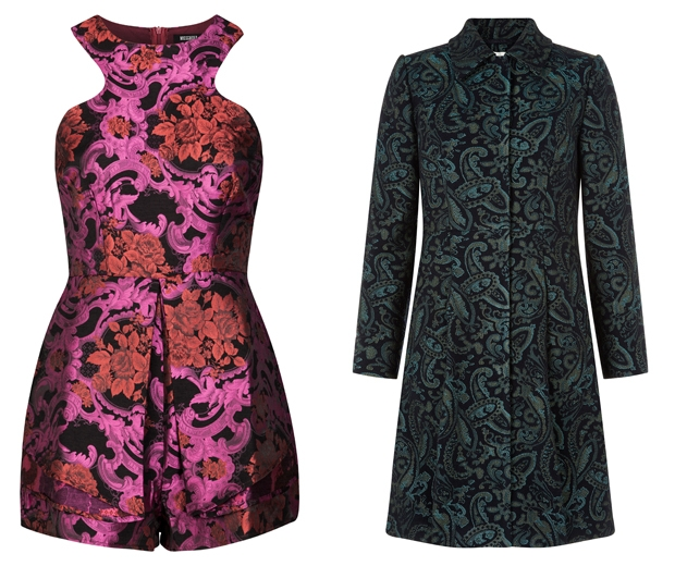 We love Monsoon's coat and Missguided's playsuit