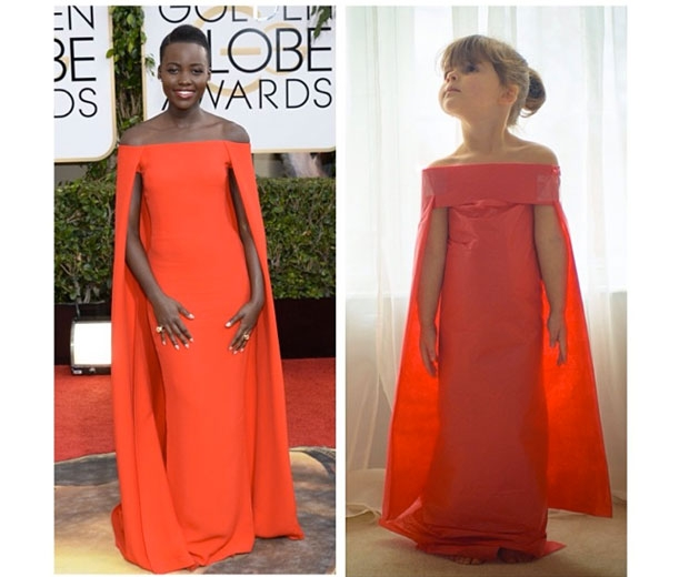 Replicating Lupita Nyong'o's Golden Globe dress out of paper