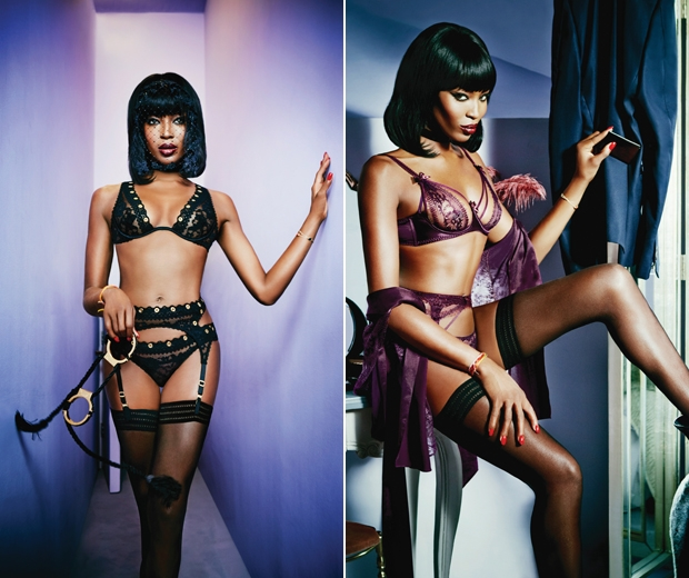 Naomi Rocks Our World In Agent Provocateur