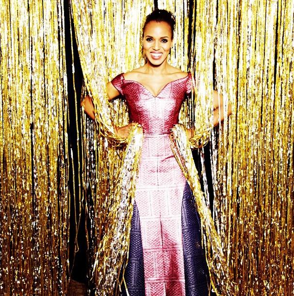 Kerry Washington at The Golden Globes 2015