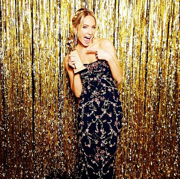 Joanne Froggatt at The Golden Globes 2015