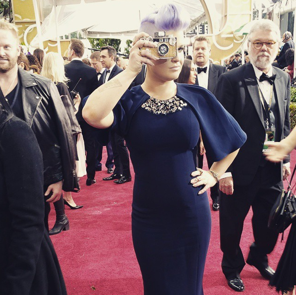 Kelly Osbourne at the Golden Globes 2015