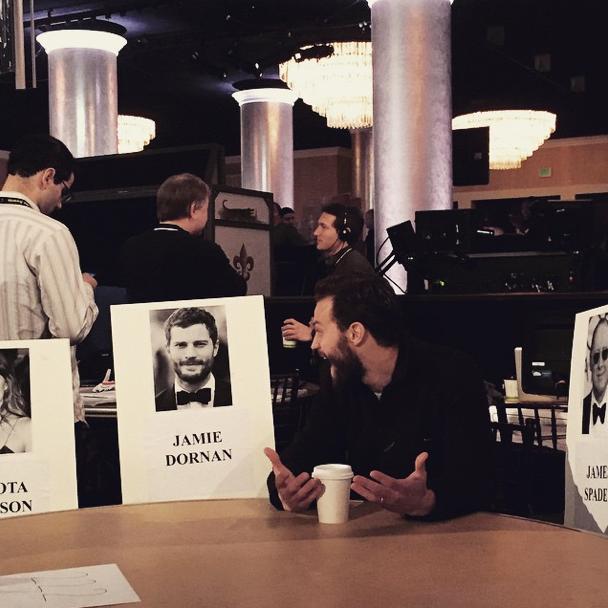 Jamie Dornan at the Golden Globes 2015