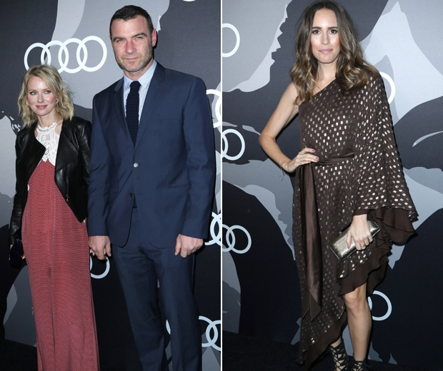 Naomi Watts and Louise Roe at the Audi Celebrates Golden Globes Week