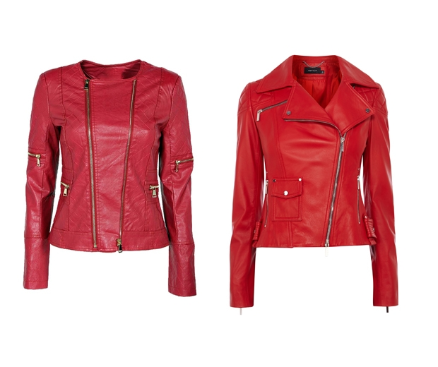 High street red jackets
