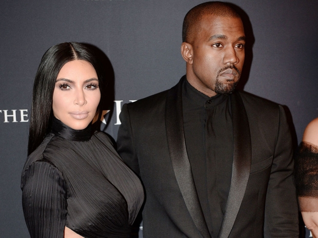 Kim kardashian and kanye west at the BET honors awards