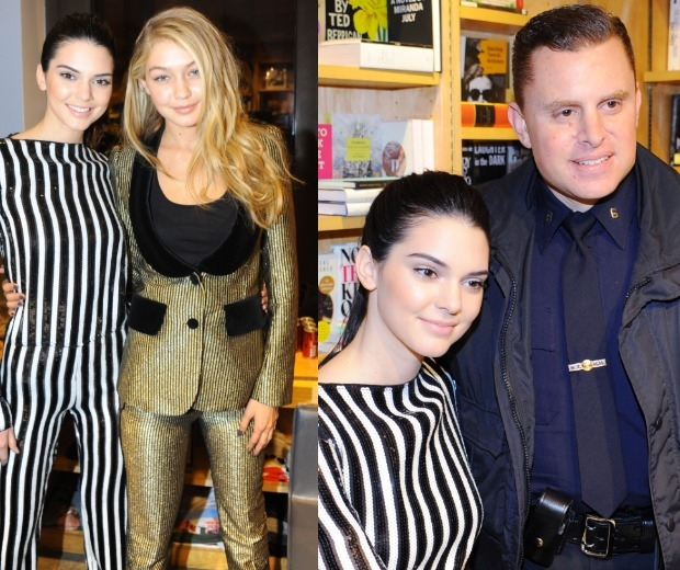 Kendall makes friends with a police officer in New York