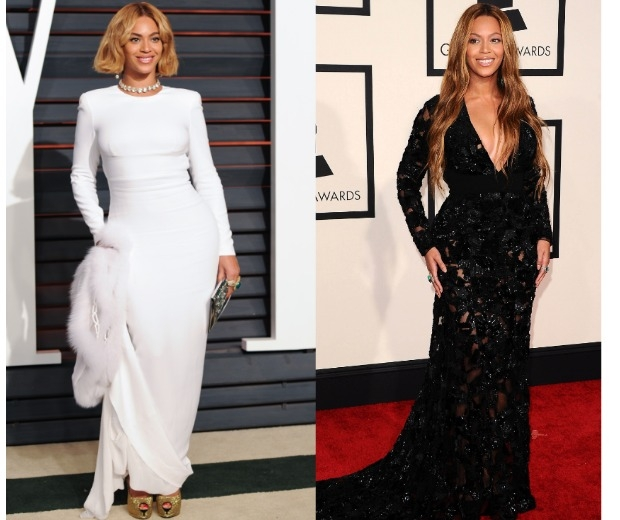 Beyonce debuts her short hair at the Oscars