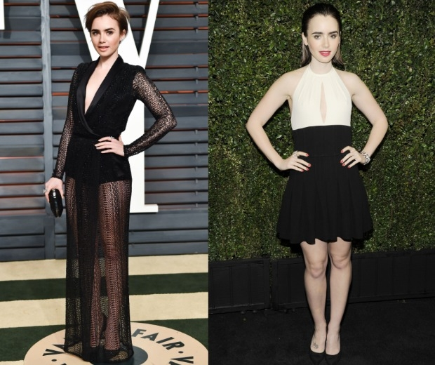 Lily Collins has ditched her shoulder-length style